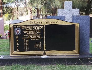 Lawn Headstone 12