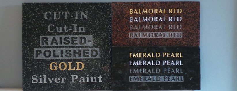 Inscriptions for new headstones